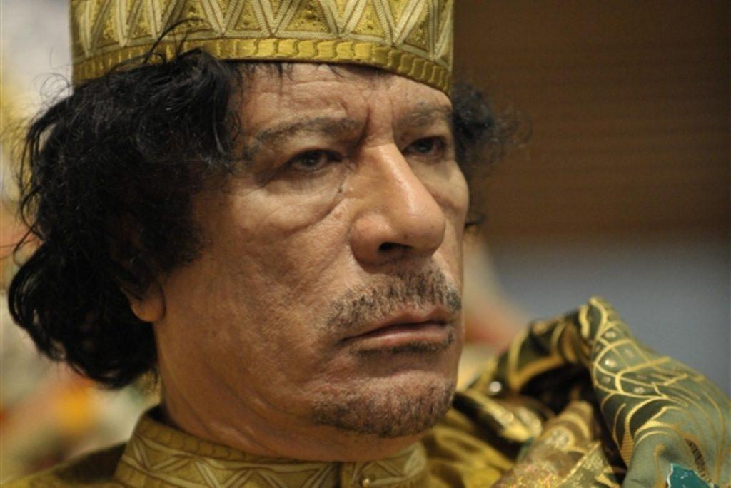 Muammar Gaddafi in defiant mode