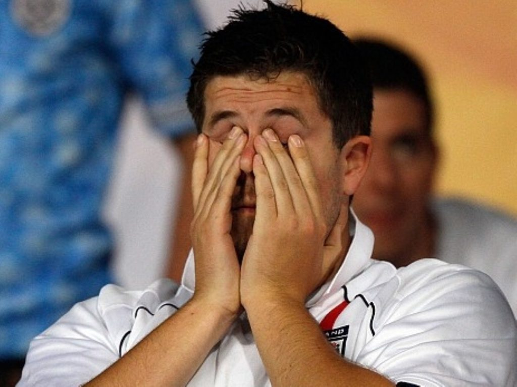 England fans were left disappointed in South Africa