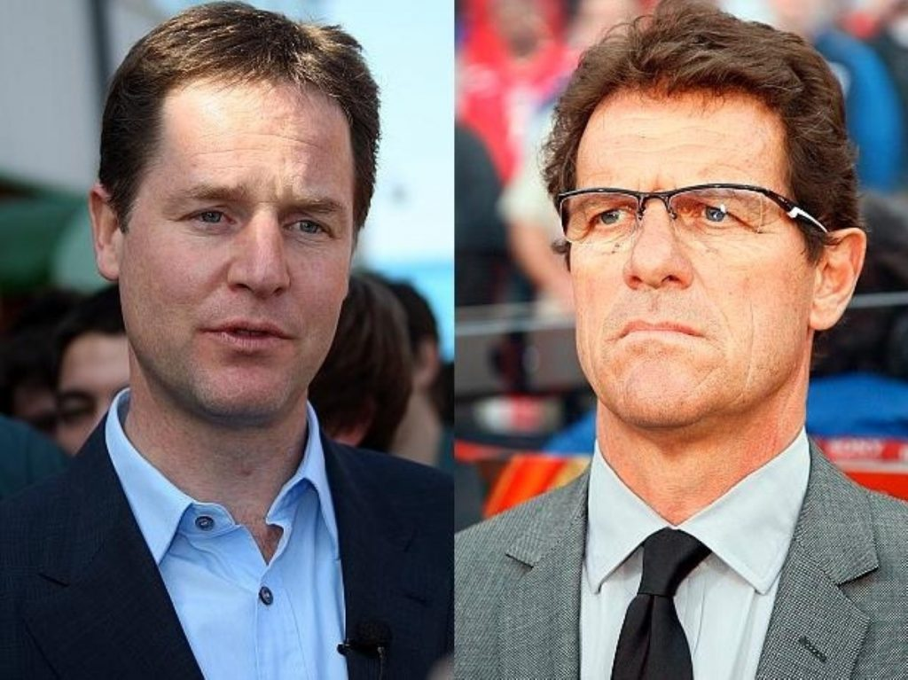 Nick Clegg and Fabio Capello have more in common than you think