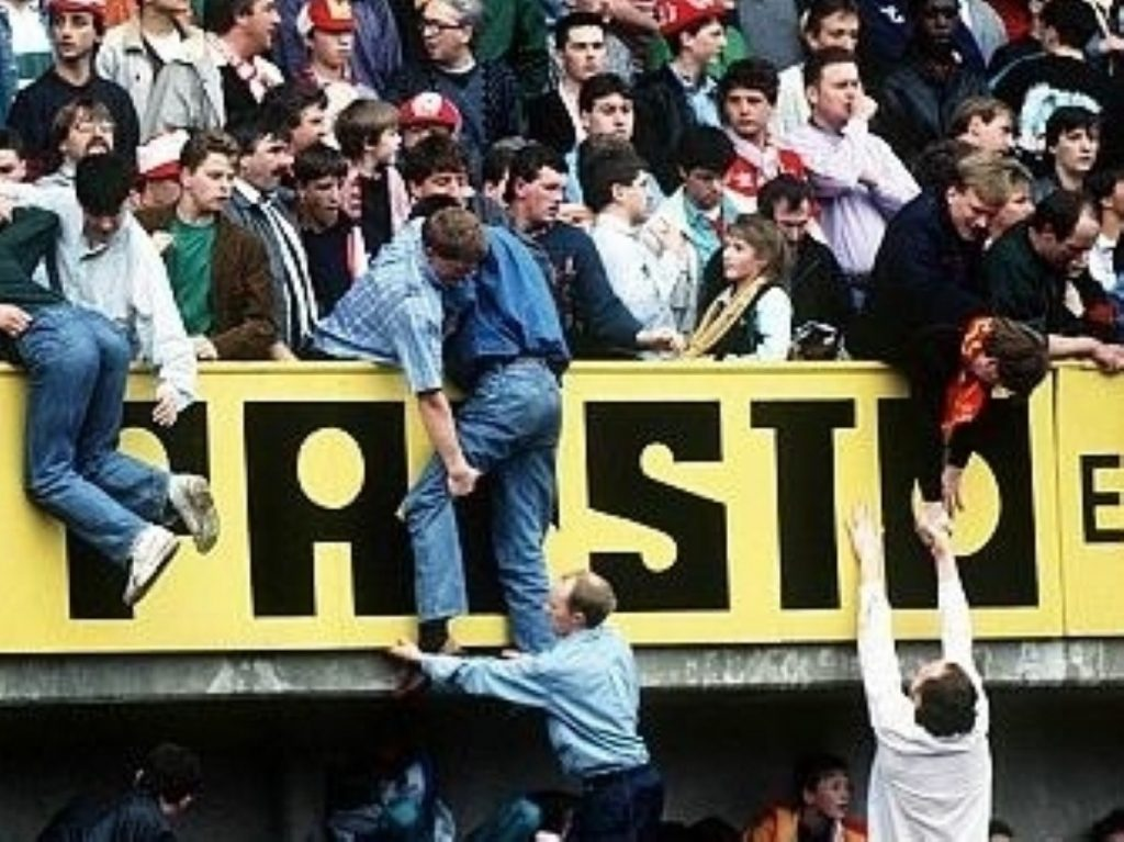 96 people died in the 1989 Hillsborough disaster