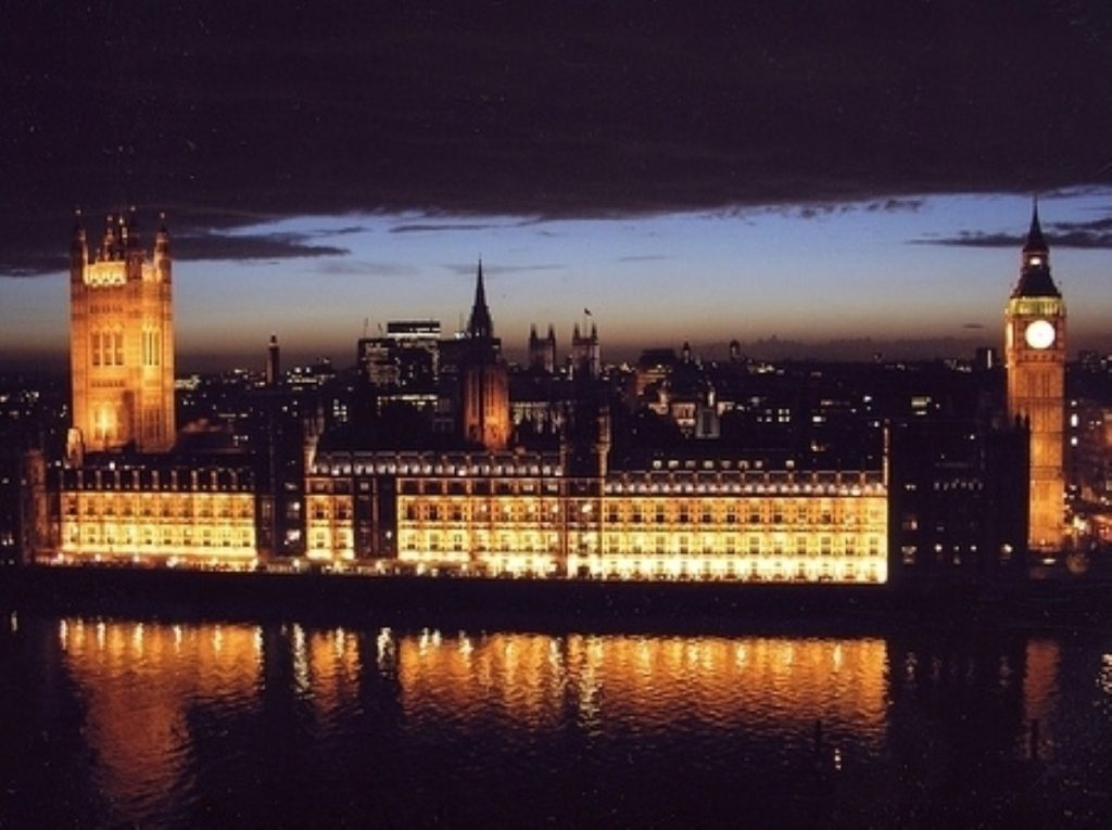 Parliament at night. MPs voted on the Budget yesterday evening and will do again tonight