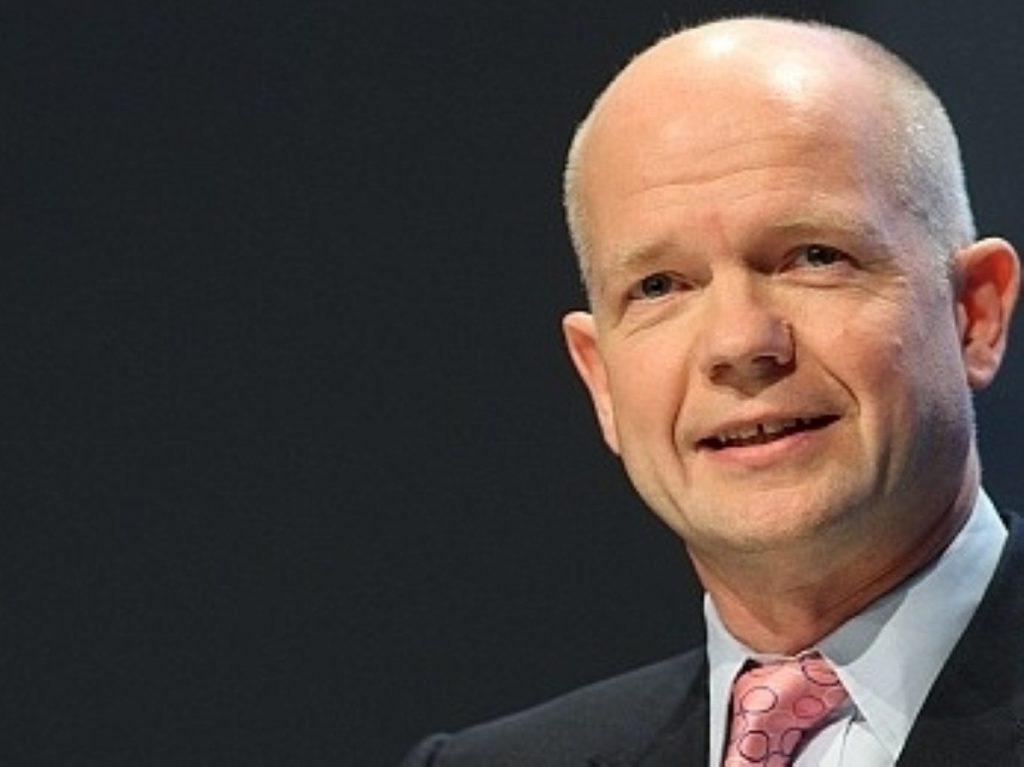 William Hague issued the statement on Wednesday