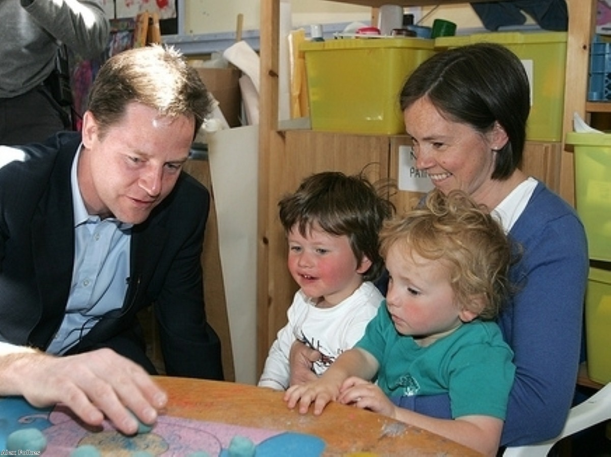 Nick Clegg said it was too complicated to remove richest parents from the coalition's childcare support package