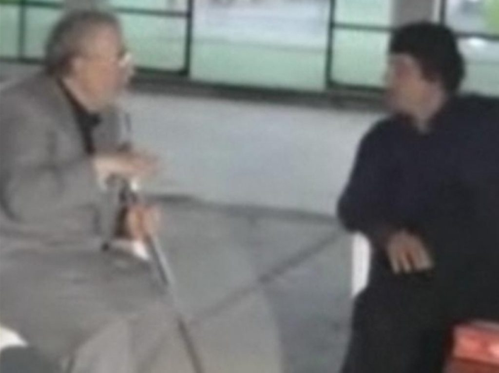 Abdelbaset al-Megrahi meets Libyan leader Gaddafi