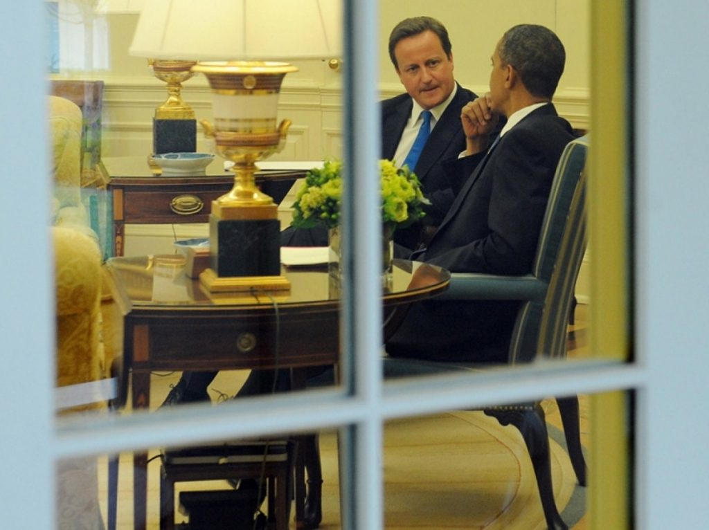 David Cameron last met with Barack Obama in the White House in July 2010