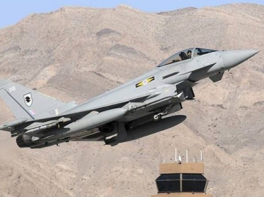 UK-made Typhoons were deployed over recent days