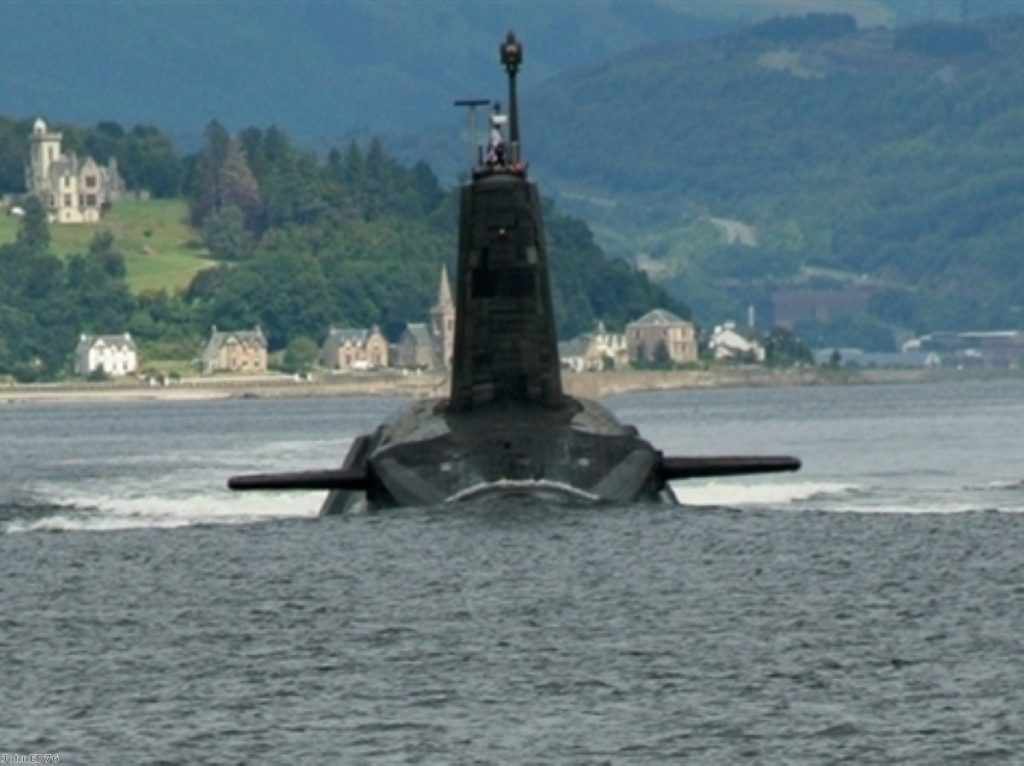 The main decision on replacing Trident will be taken in 2016