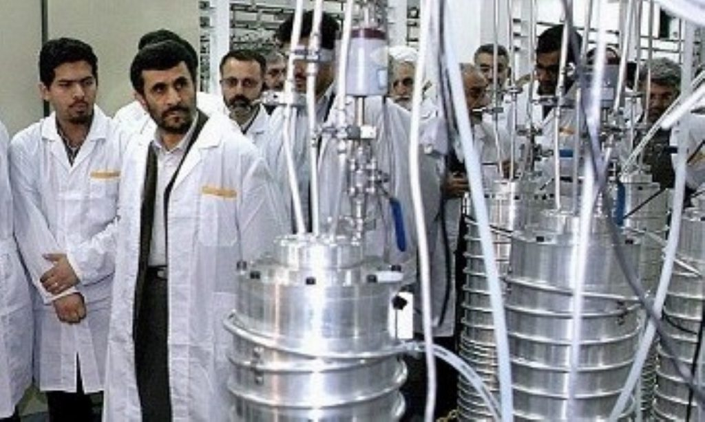 Tony Blair has offered an uncompromising view on the Iranian nuclear programme