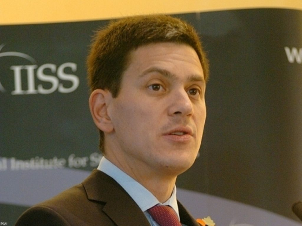 Tory MP calls for David Miliband to return to the frontline - to advise the coalition