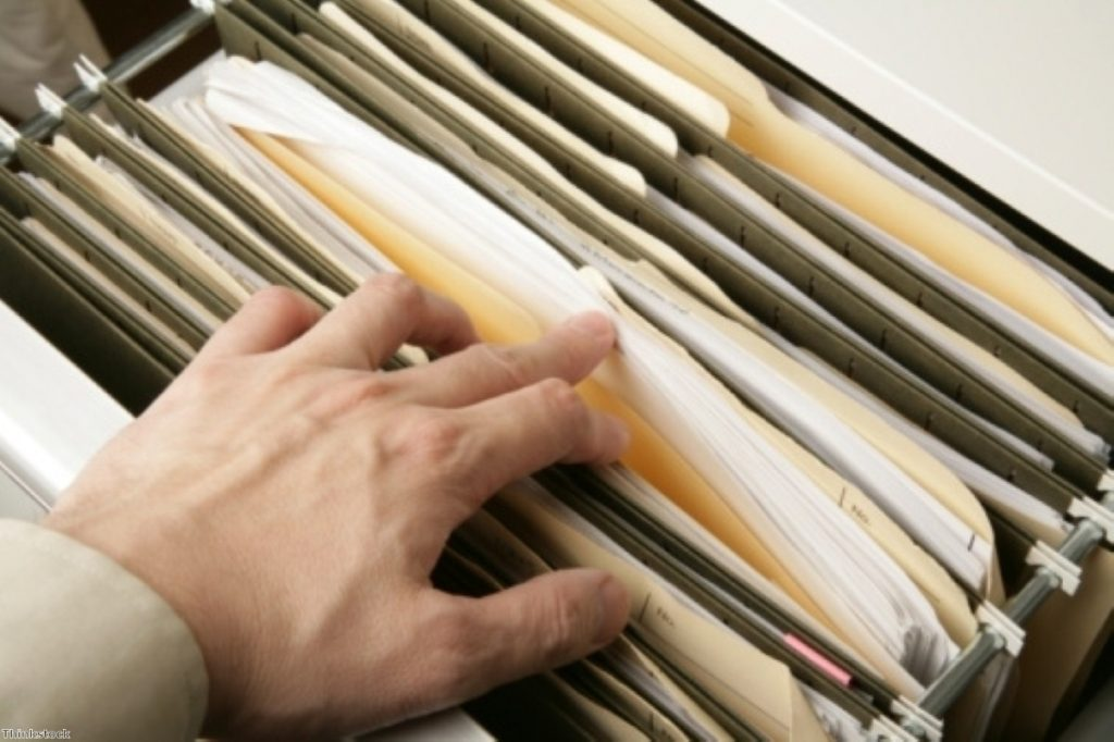 Under the carpet? Lost applicants are being filed under 'controlled archive'.