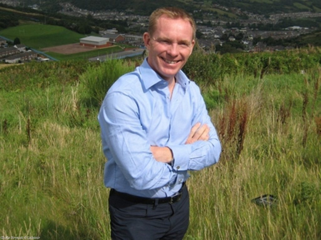 Chris Bryant was elected as Labour party MP for Rhondda in 2001
