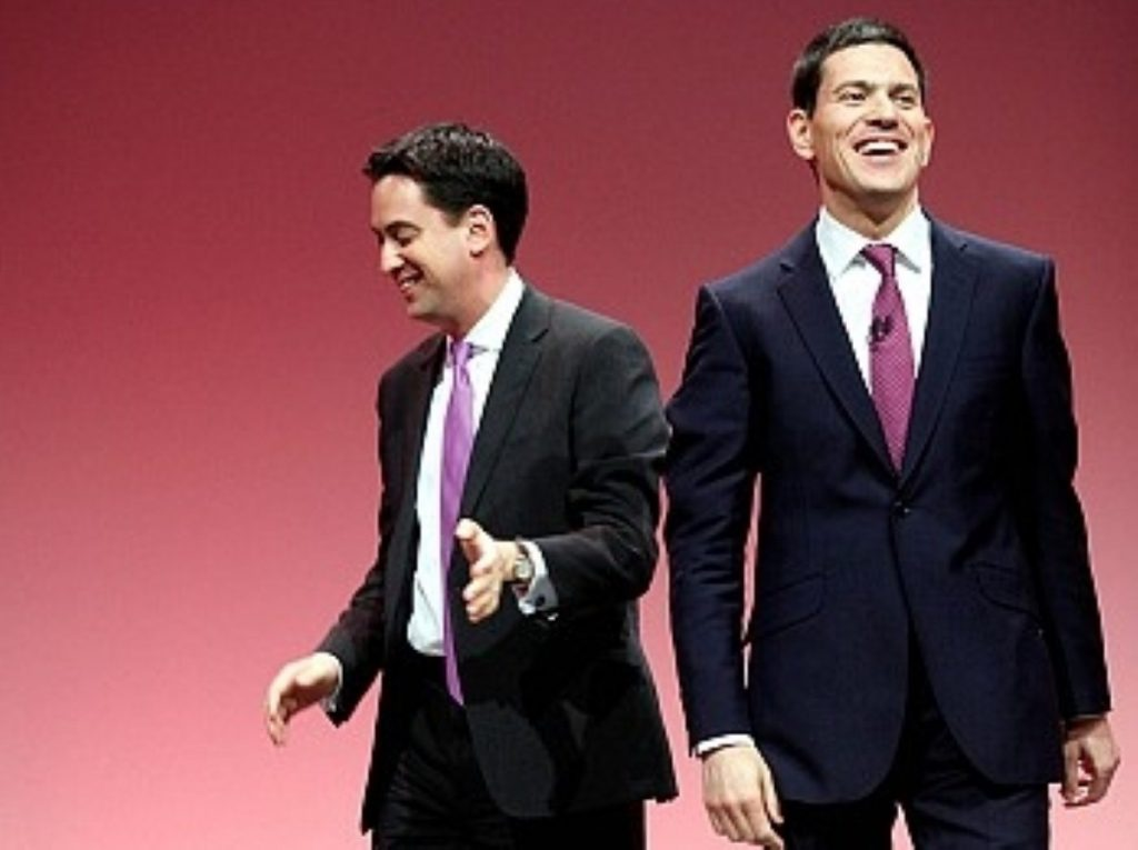 Parting ways: The two men have had a fraught relationship since the Labour leadership election.