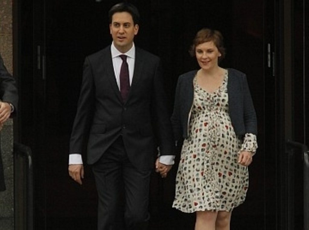 The happy couple: Miliband set to marry in May