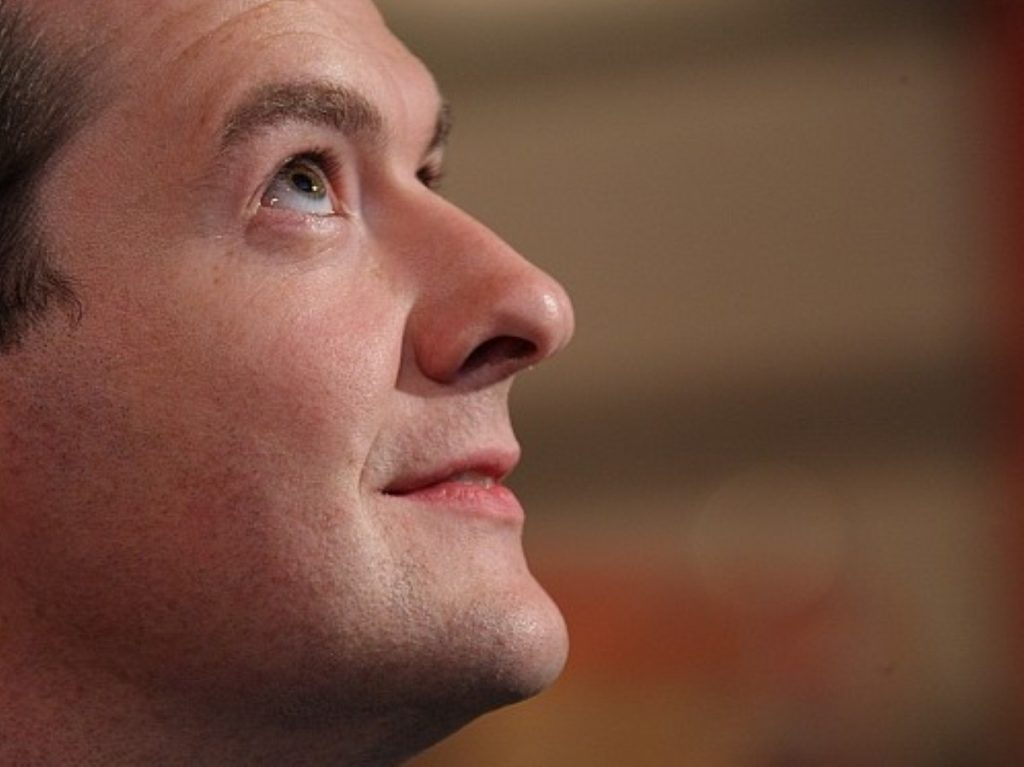 Looking to the heavens: Osborne's victory won him few fortunes
