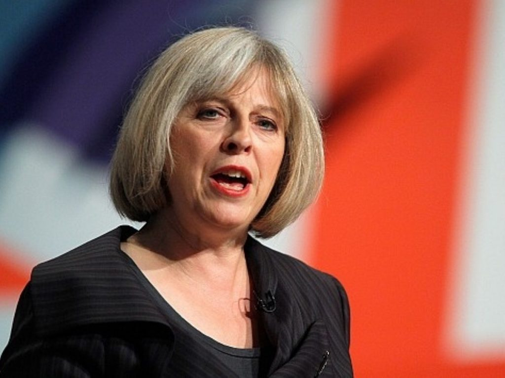 Theresa May has accepted an application from the police to ban the EDL march.