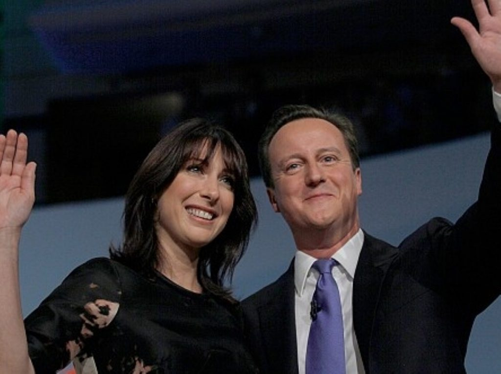 Tough message: Cameron at the Tory party conference