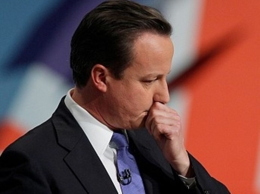 David Cameron gave a muted performance to delegates in Birmingham