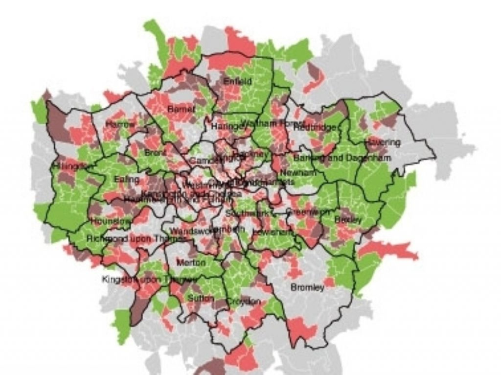 Only green areas will remain affordable by 2016