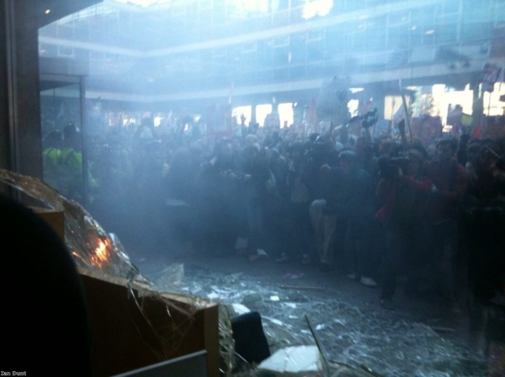 Last year's tuition fees protests quickly turned violent