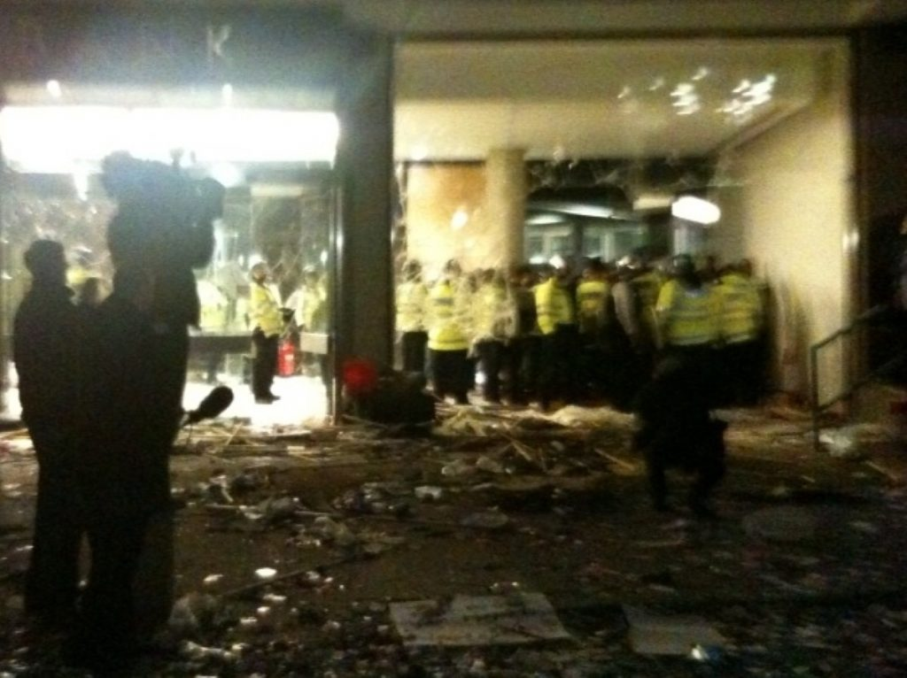 The remains of the foyer of Millbank Towers