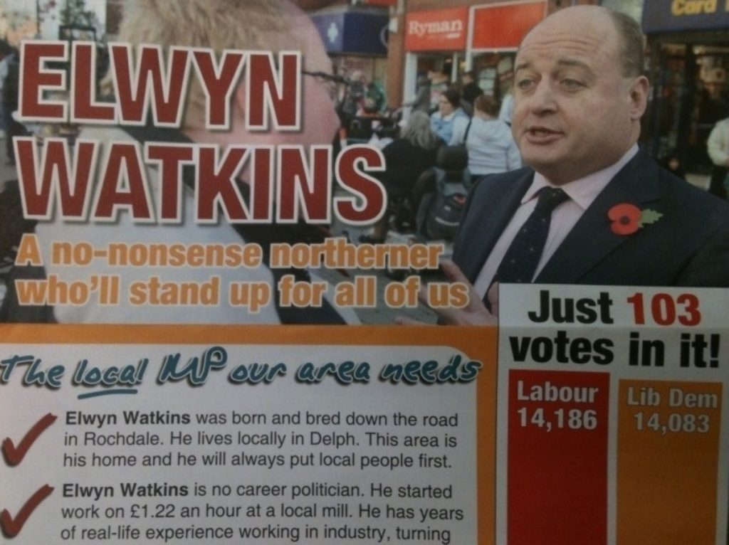 How will the Lib Dems' national fortunes impact on Elwyn Watkins chances?