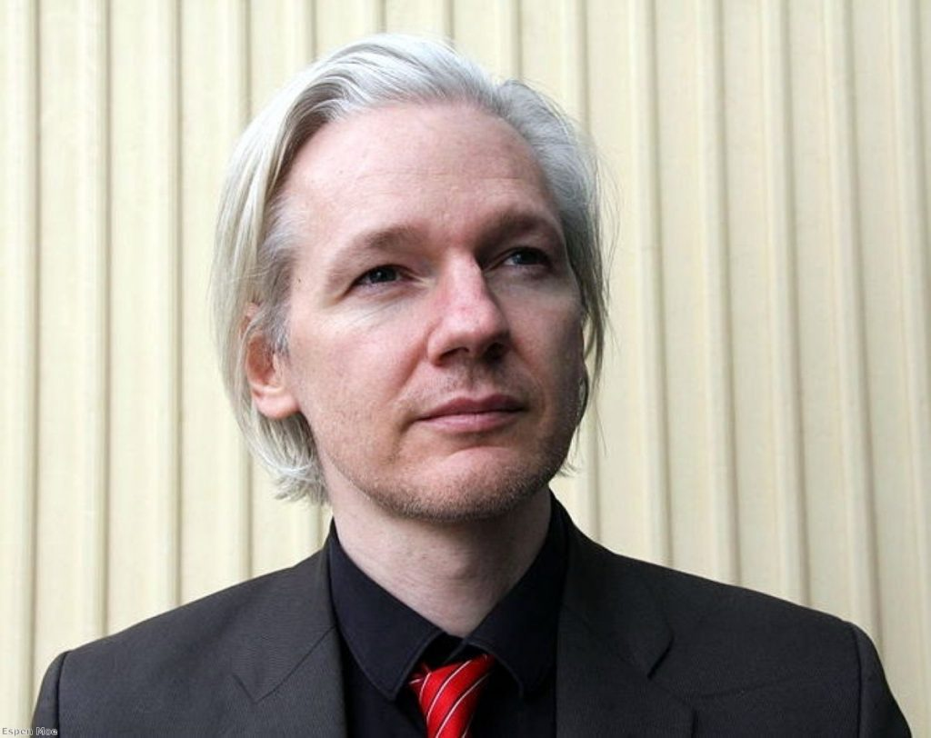 Mr Assange remains bullish about the attempted extradition to Sweden