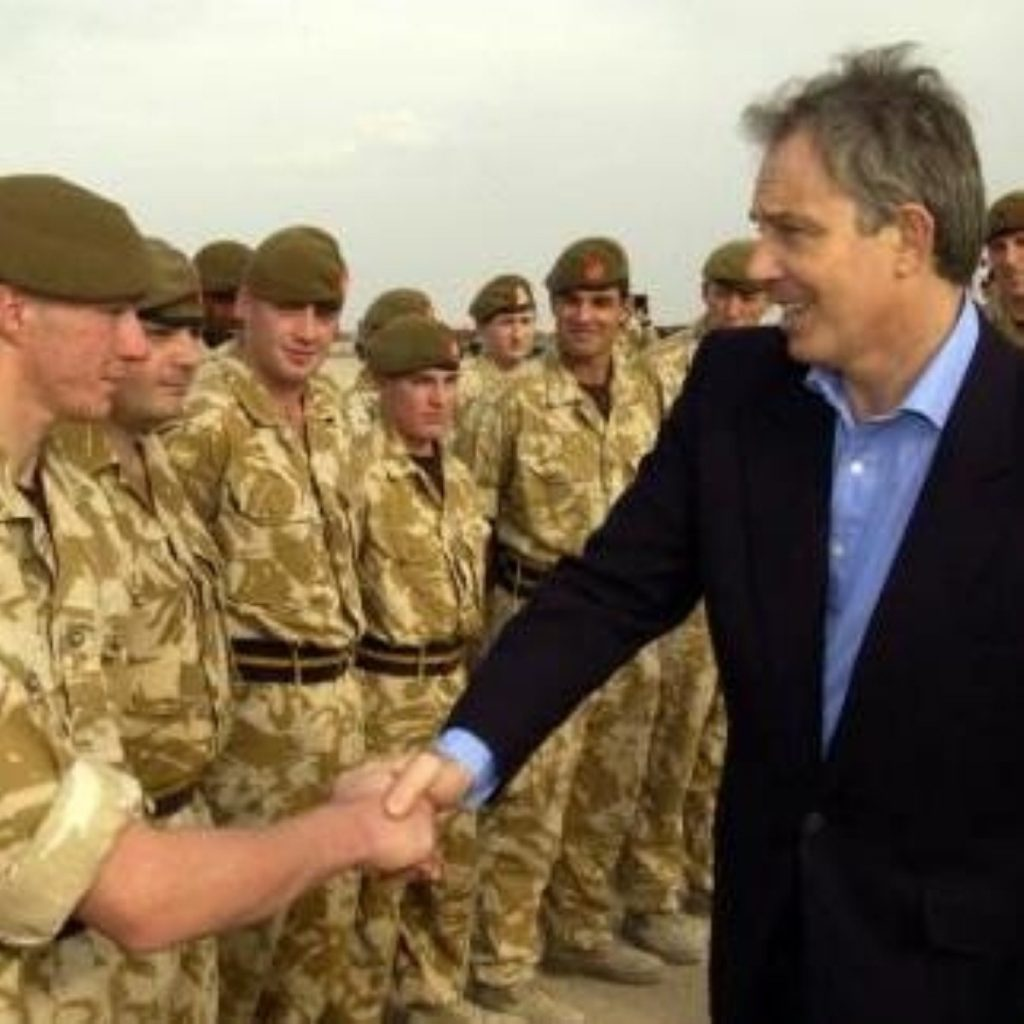 Tony Blair says NHS hospitals are the best place for troops to be treated