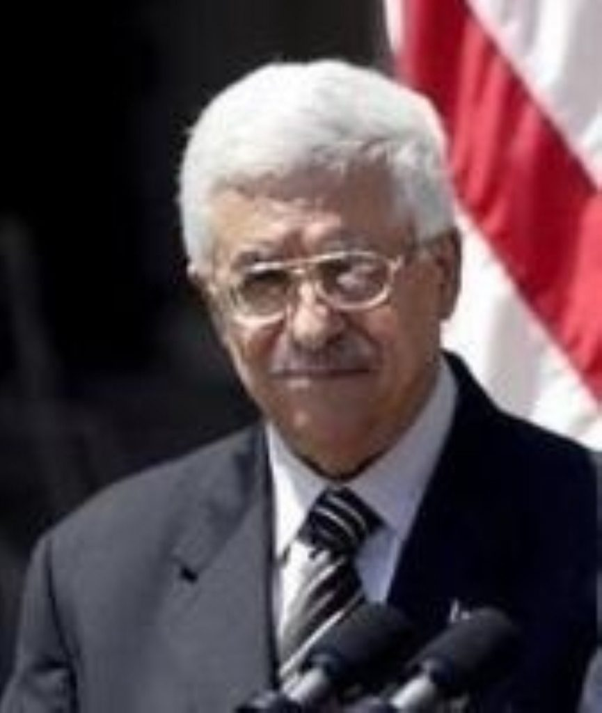 Mahmoud Abbas called for an end to the Palestians' suffering