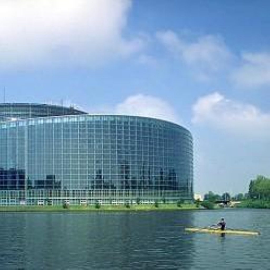 The European parliament. MEPs will lose their parliamentary passes for Westminster.