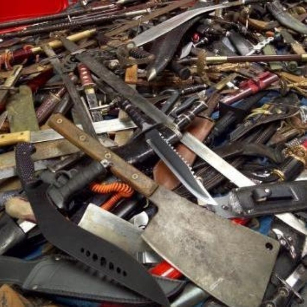 A knife amnesty haul from Greater Manchester police