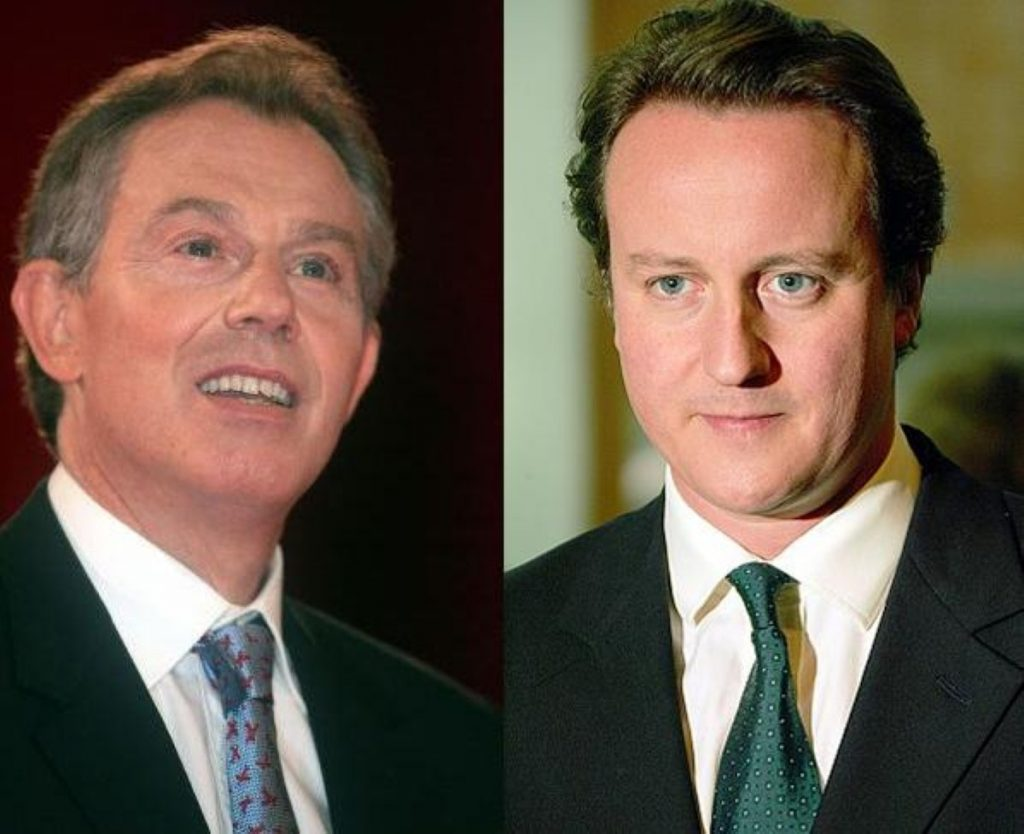 Respect across the aisle: Blair's comments will be taken as further evidence of his admiration for David Cameron.