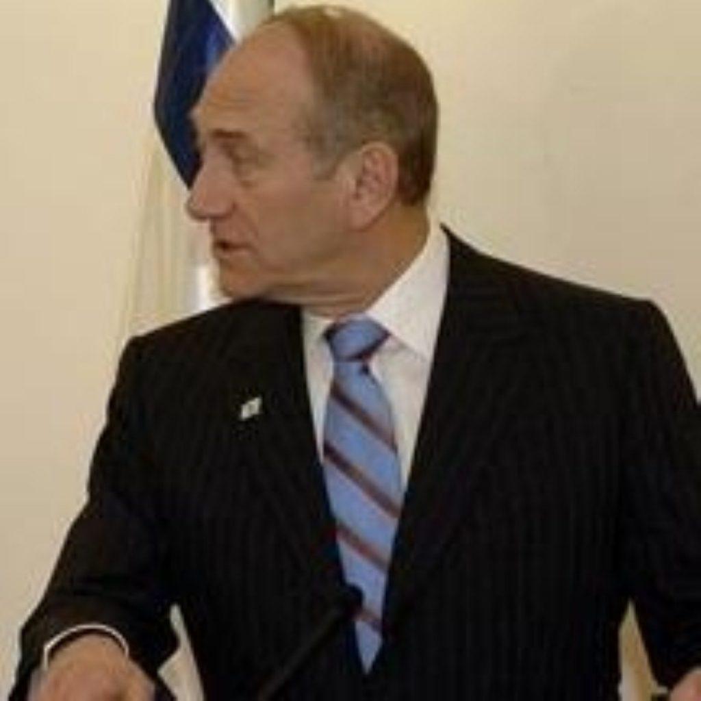 Ehud Olmert heaped praise on Tony Blair