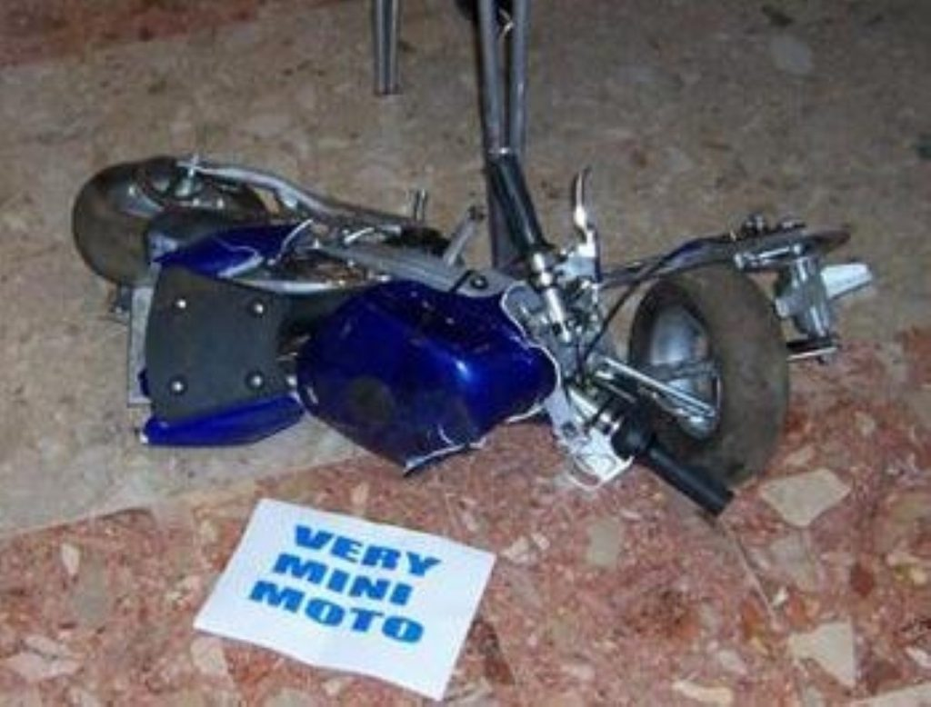 Mini-motos can be crushed if found to be used illegally