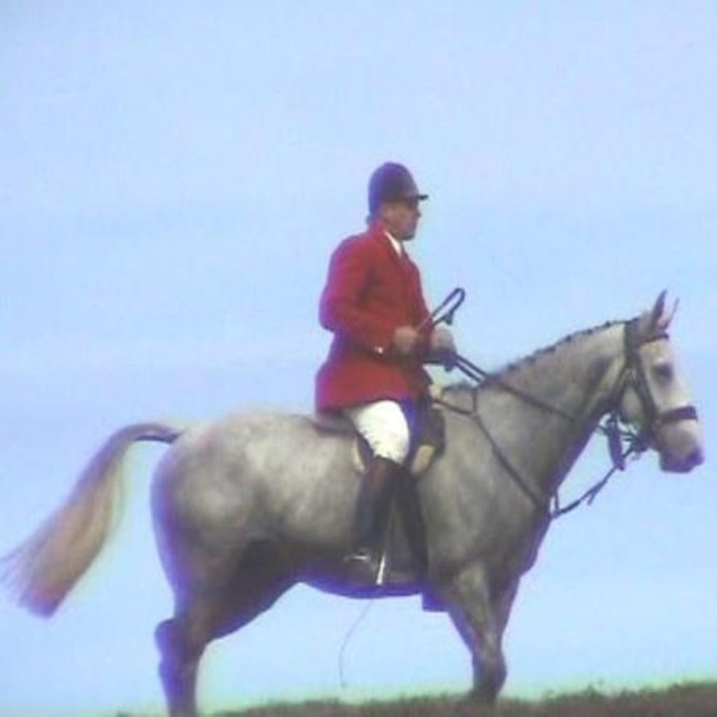 Exmoor huntsman Tony Wright, the first person prosecuted under the Hunting Act