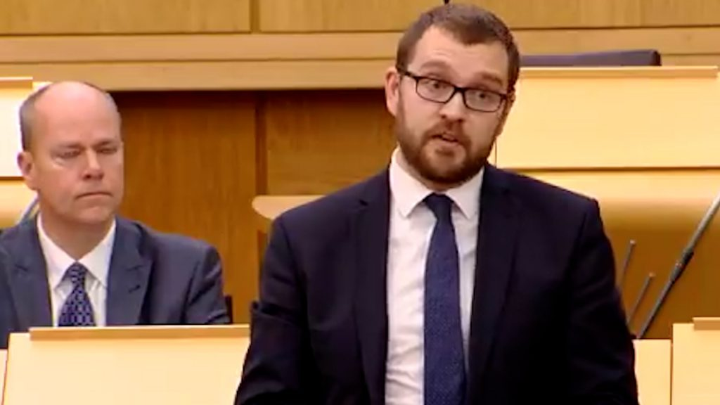 Oliver Mundell in the Scottish Parliament