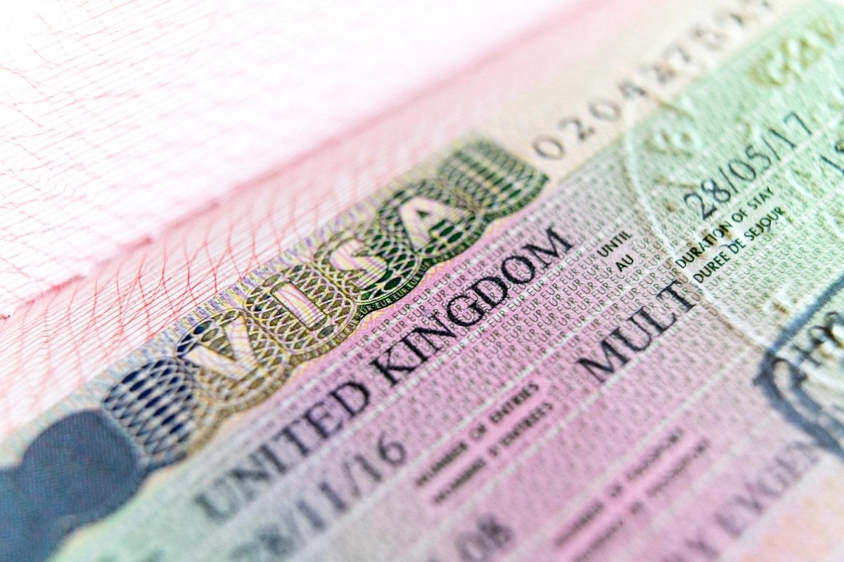 Visa stamp travel passport immigration macro emigration