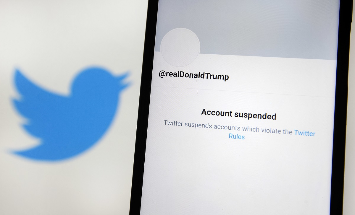 Photo illustrations of a permanently suspended President Donald Trump's Twitter account - 11 Jan 2021