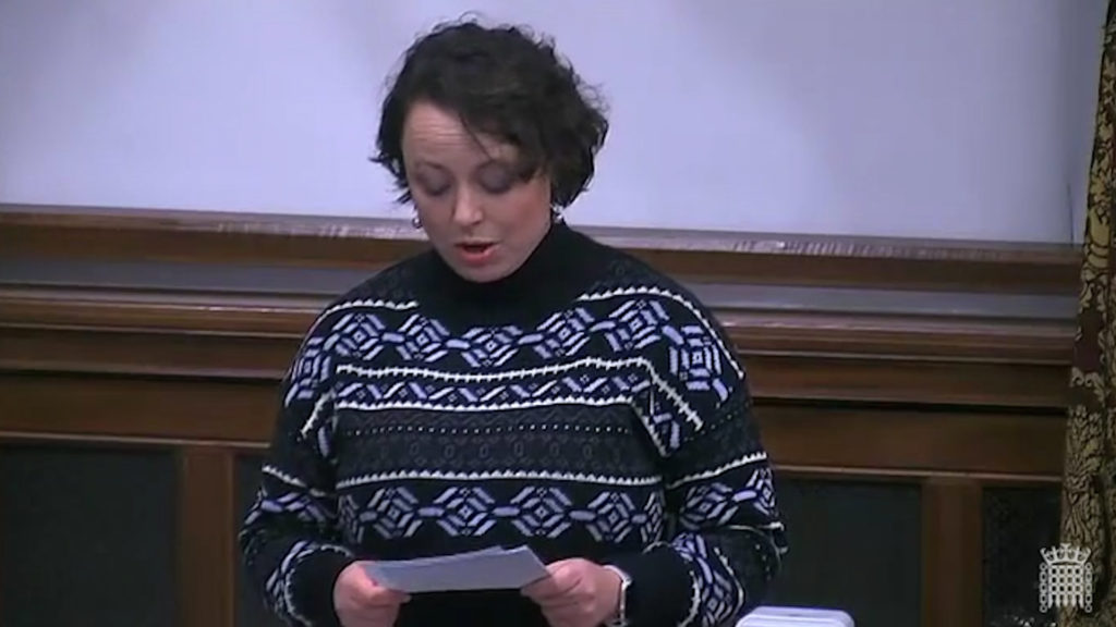 Catherine McKinell speaks in the Westminster Hall debate about a minister for hospitality