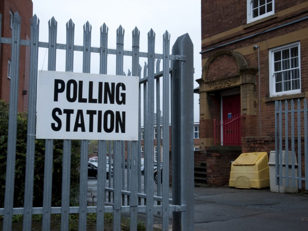 Polling Station at Old School