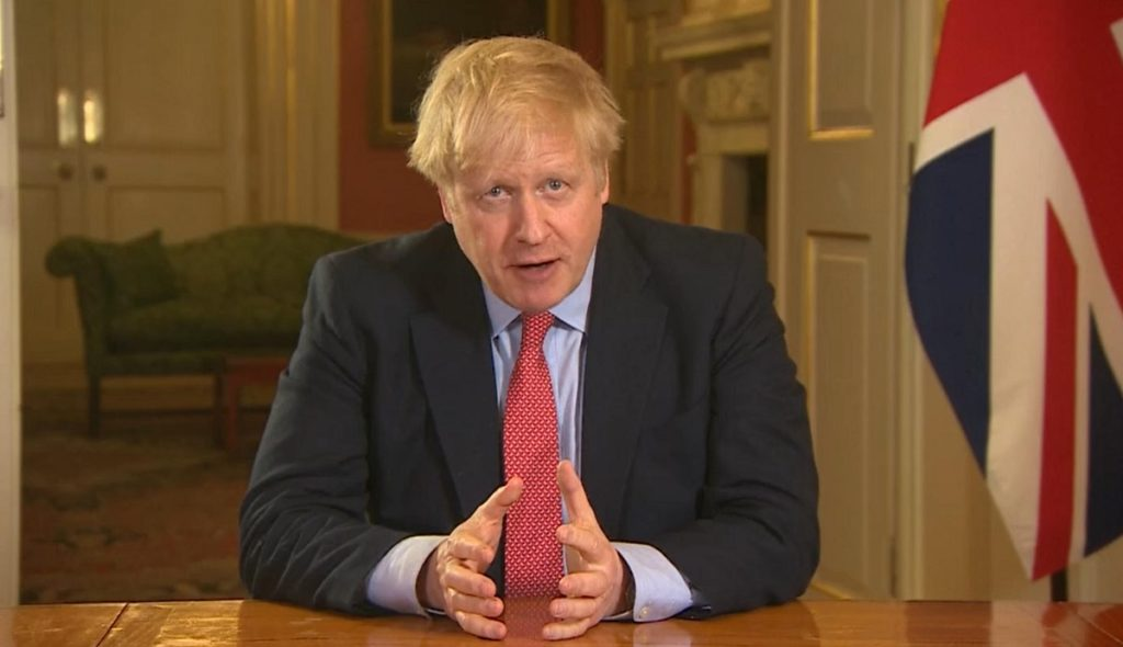 Boris Johnson orders lockdown