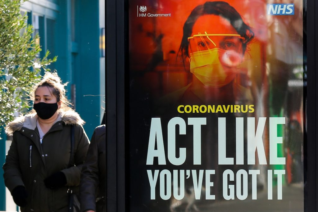 Coronavirus campaign adverts in London, UK - 22 Jan 2021