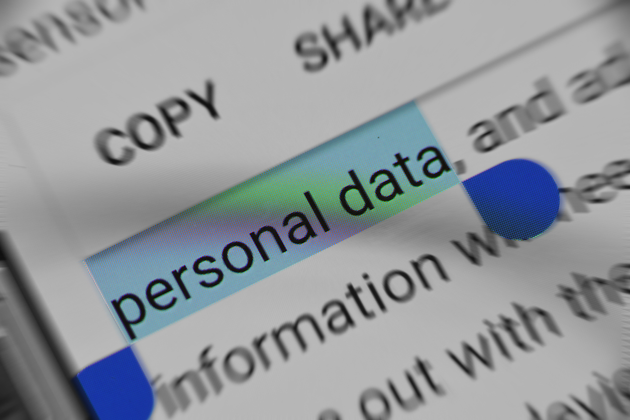 eading about Personal Data security online