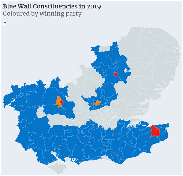 Conservative blue wall