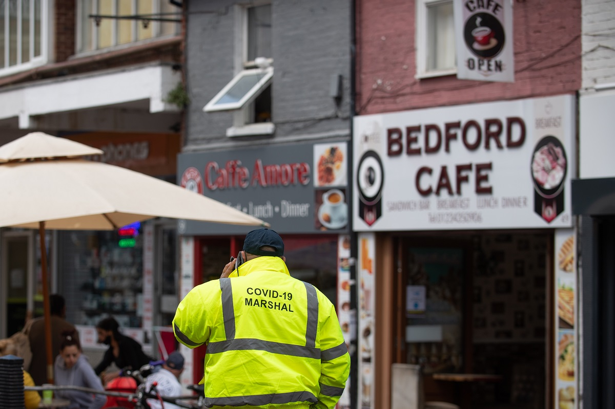Bedford is one of the areas the government recommends not to travel in or out of
