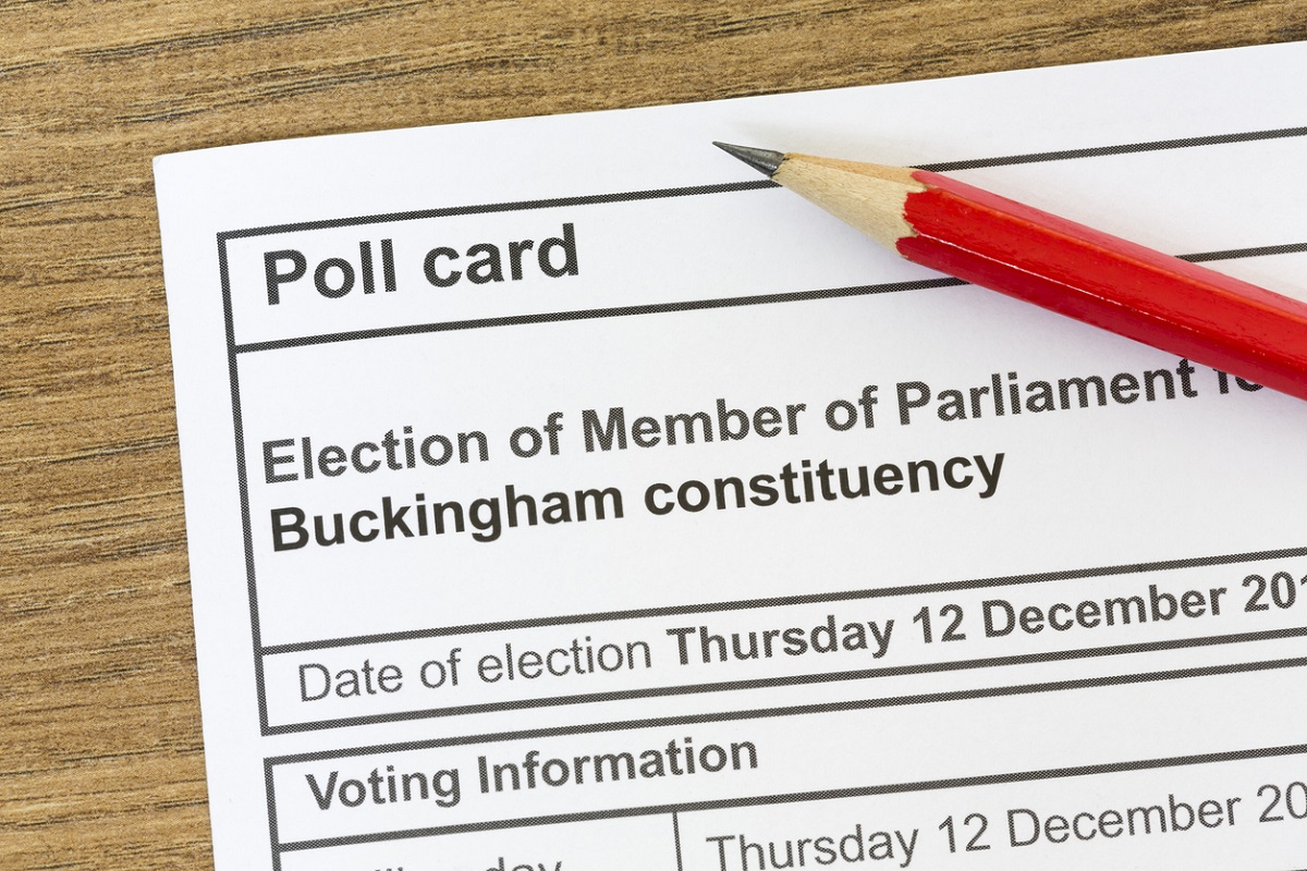 UK general election poll card
