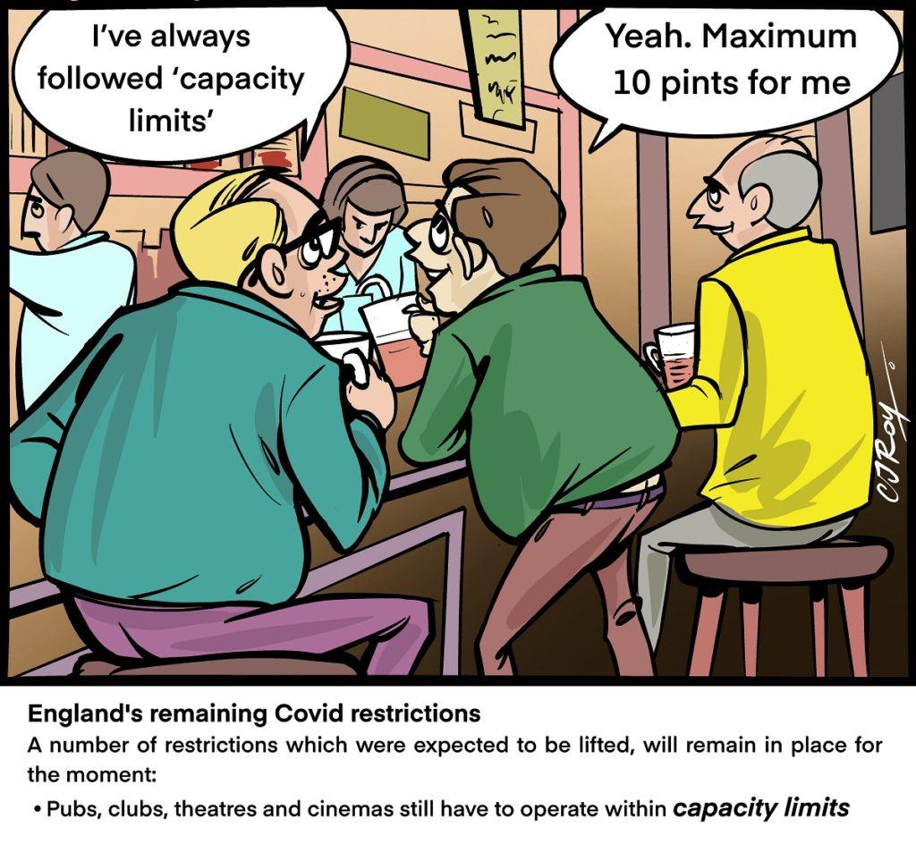 Lockdown capacity cartoon