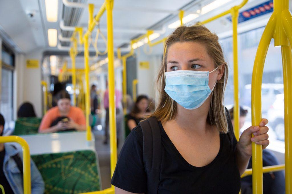 Face masks on public transport