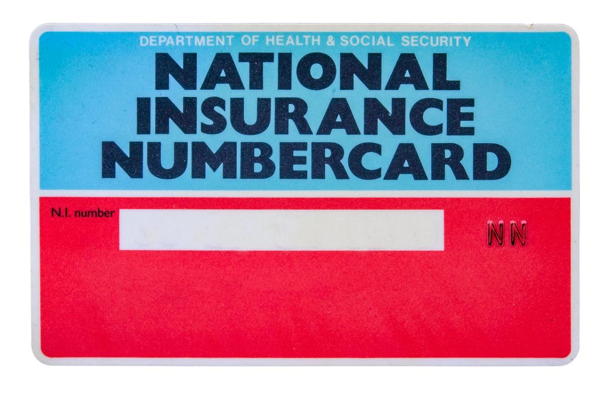 UK National Insurance Card